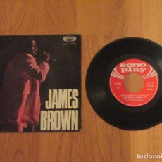 Discos de vinilo: JAMES BROWN - THERE WAS A TIME - SONO PLAY - SPAIN - 4 TEMAS - T - . Lote 97005379