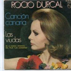 Disques de vinyle: ROCIO DURCAL (BSO LAS LEANDRAS) / CANCION CANARIA / LAS VIUDAS (SINGLE 1970). Lote 97021167