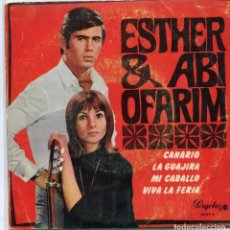 Discos de vinilo: ESTHER & ABI OFARIM / CANARIO + 3 (EP PERGOLA 1968). Lote 97021699