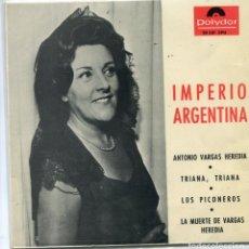 Discos de vinilo: IMPERIO ARGENTINA / TRIANA, TRIANA + 3 (EP 1965). Lote 103916044