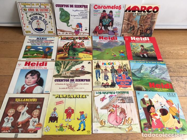 LOTE 16 LPS DE MÚSICA / CUENTOS INFANTIL (Música - Discos - LPs Vinilo - Música Infantil)