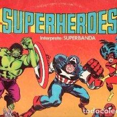 Discos de vinilo: LONG PLAY SUPERHEROES CAPITAN MEMO AGUIRRE SUPERBANDA FTA FLPS-375 PERÚ STEREO 1982 SABAN RECORDS. Lote 97077655