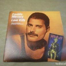 Discos de vinilo: FREDDIE MERCURY. LOVE KILLS. ROTWANG´S PARTY. Lote 97099819