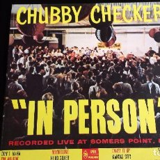 Discos de vinilo: LP CHUBBY CHECKER: IN PERSON (HOLANDA 1963). Lote 97106083
