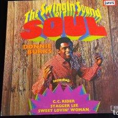 Discos de vinilo: LP DONNIE BURKS: THE SWINGIN' SOUND OF SOUL. Lote 97106499