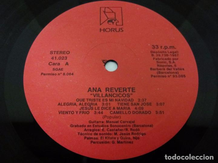 Discos de vinilo: ANA REVERTE - VILLANCICOS - LP - HORUS 1987 SPAIN 41.023 - Foto 2 - 97110563