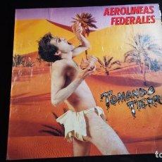 Discos de vinilo: LP AEROLINEAS FEDERALES: TOMANDO TIERRA. Lote 97140619