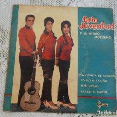 Discos de vinilo: TRIO JUVENTUD, LA CIENCIA DE FARAON, EL CANDIL, YO NO SE CARIÑO BRASIL TE CANTO 1962 SF 2076. Lote 97141899