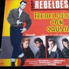 Discos de vinilo: LP LOS REBELDES: REBELDES CON CAUSA. Lote 97141951