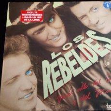 Discos de vinilo: LP LOS REBELDES: MÁS ALLÁ DEL BIEN Y DEL MAL. Lote 97142019