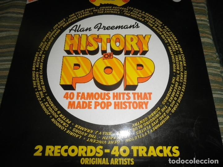 Discos de vinilo: ALAN FREEMAN´S HISTORY OF POP DOBLE LP - EDICION FRANCESA - ARCADE 1974 - GATEFOLD COVER - - Foto 3 - 97146367