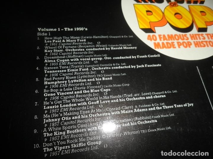 Discos de vinilo: ALAN FREEMAN´S HISTORY OF POP DOBLE LP - EDICION FRANCESA - ARCADE 1974 - GATEFOLD COVER - - Foto 4 - 97146367