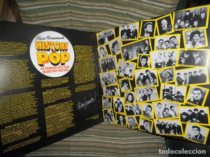 Discos de vinilo: ALAN FREEMAN´S HISTORY OF POP DOBLE LP - EDICION FRANCESA - ARCADE 1974 - GATEFOLD COVER - - Foto 13 - 97146367