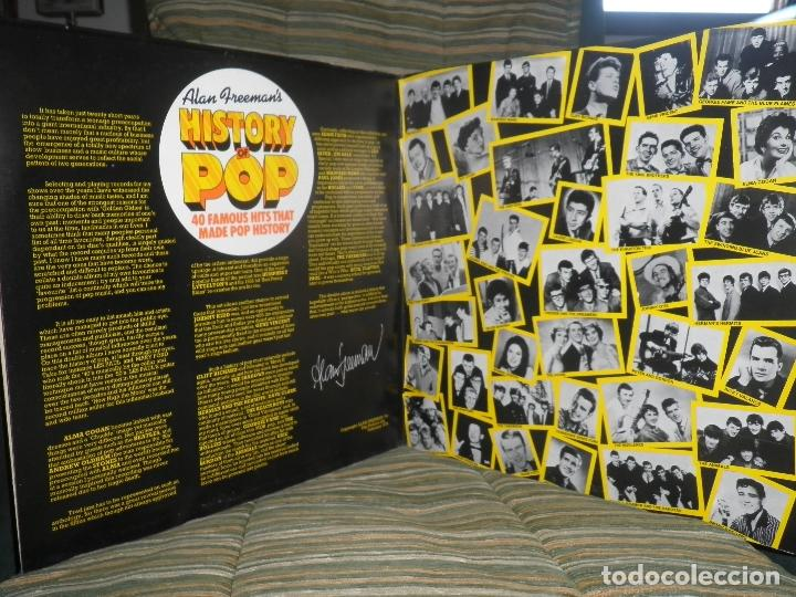 Discos de vinilo: ALAN FREEMAN´S HISTORY OF POP DOBLE LP - EDICION FRANCESA - ARCADE 1974 - GATEFOLD COVER - - Foto 14 - 97146367