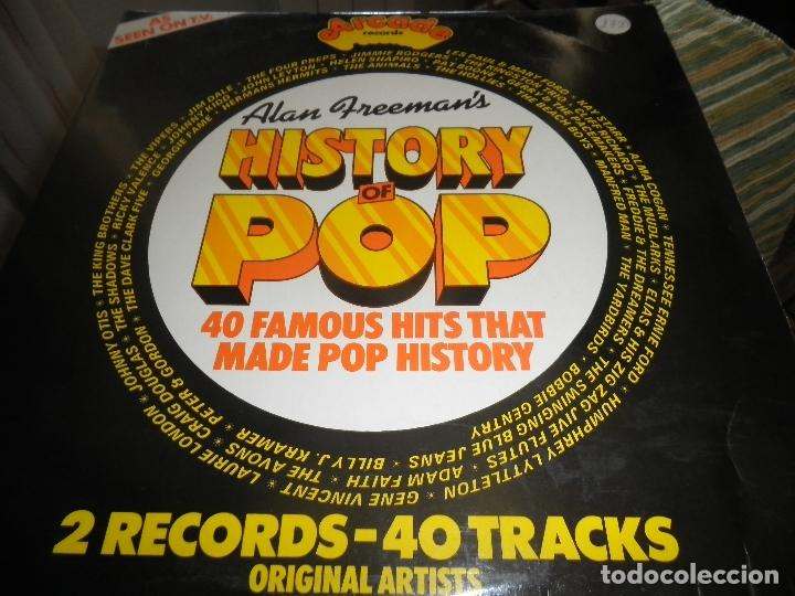 Discos de vinilo: ALAN FREEMAN´S HISTORY OF POP DOBLE LP - EDICION FRANCESA - ARCADE 1974 - GATEFOLD COVER - - Foto 17 - 97146367
