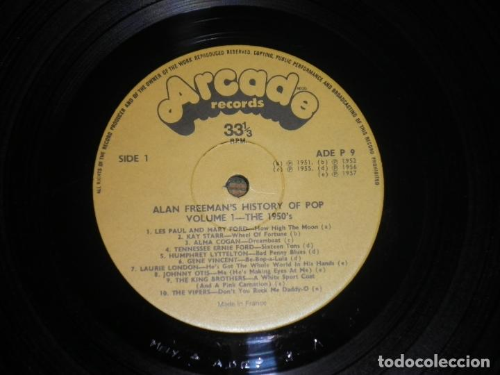 Discos de vinilo: ALAN FREEMAN´S HISTORY OF POP DOBLE LP - EDICION FRANCESA - ARCADE 1974 - GATEFOLD COVER - - Foto 19 - 97146367