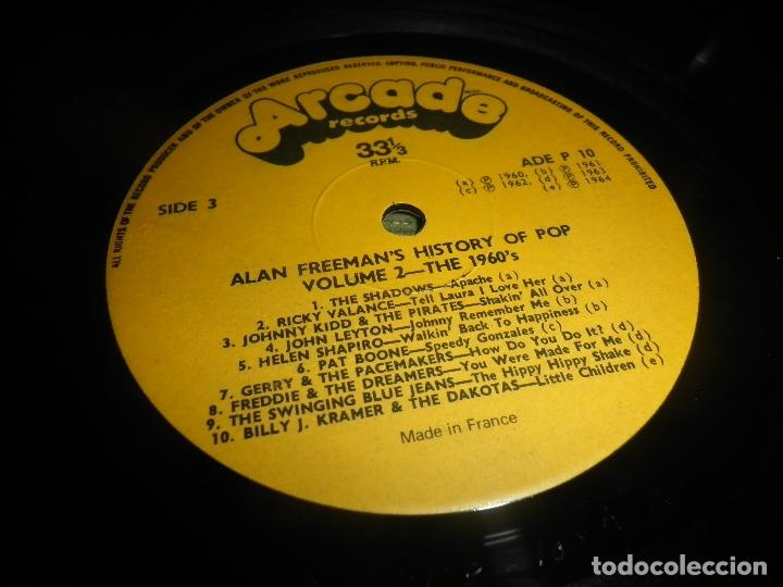 Discos de vinilo: ALAN FREEMAN´S HISTORY OF POP DOBLE LP - EDICION FRANCESA - ARCADE 1974 - GATEFOLD COVER - - Foto 24 - 97146367