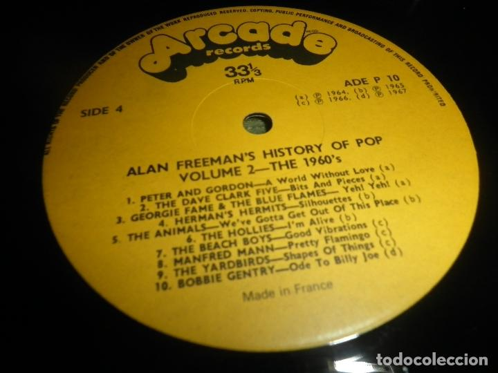 Discos de vinilo: ALAN FREEMAN´S HISTORY OF POP DOBLE LP - EDICION FRANCESA - ARCADE 1974 - GATEFOLD COVER - - Foto 26 - 97146367