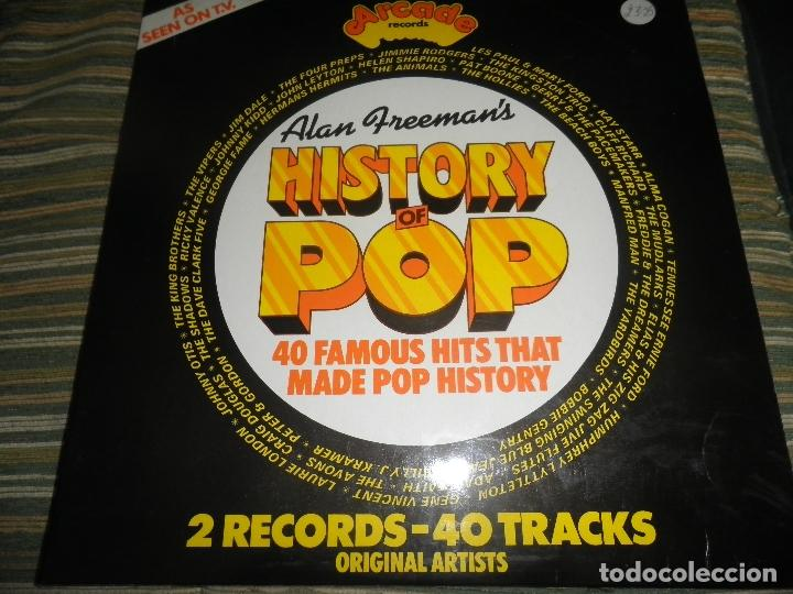 Discos de vinilo: ALAN FREEMAN´S HISTORY OF POP DOBLE LP - EDICION FRANCESA - ARCADE 1974 - GATEFOLD COVER - - Foto 30 - 97146367