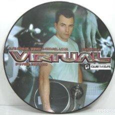 Disques de vinyle: DISCO LP PICTURE- VIRTUAL MIGUEL SERNA & ISMAEL LORA - IF U FEEL THIS LOVE - VINILO. Lote 253617440