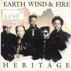 Discos de vinilo: EARTH, WIND AND FIRE - HERITAGE (SINGLE PROMO ESPAÑOL, CBS 1990). Lote 97188583