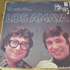 Discos de vinilo: LOS AMAYA - LA VOZ DE... - LP DOBLE EMI 1976. Lote 97192411