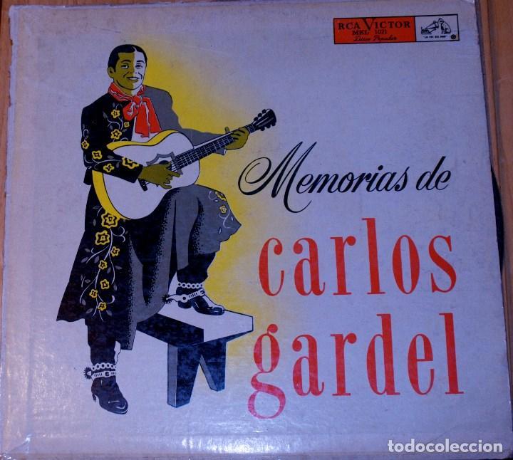 MEMORIAS DE CARLOS GARDEL. RARO (Música - Discos - LP Vinilo - Solistas Españoles de los 50 y 60)