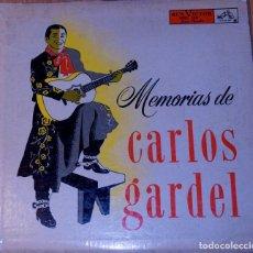 Discos de vinilo: MEMORIAS DE CARLOS GARDEL. SINGLE. MUY RARO. Lote 97206331