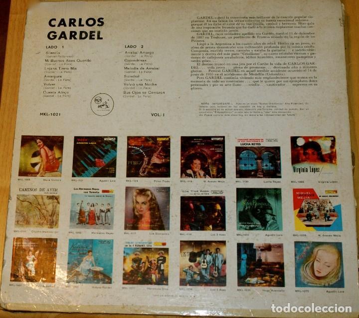 Discos de vinilo: MEMORIAS DE CARLOS GARDEL. RARO - Foto 2 - 97206331