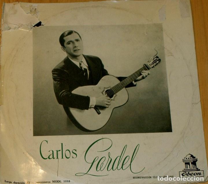 CARLOS GARDEL. ODEON 1956. RARO (Música - Discos - LP Vinilo - Solistas Españoles de los 50 y 60)