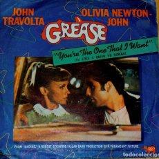 Discos de vinilo: GREASE (JOHN TRAVOLTA Y OLIVIA NEWTON JOHN). SINGLE. Lote 97208019