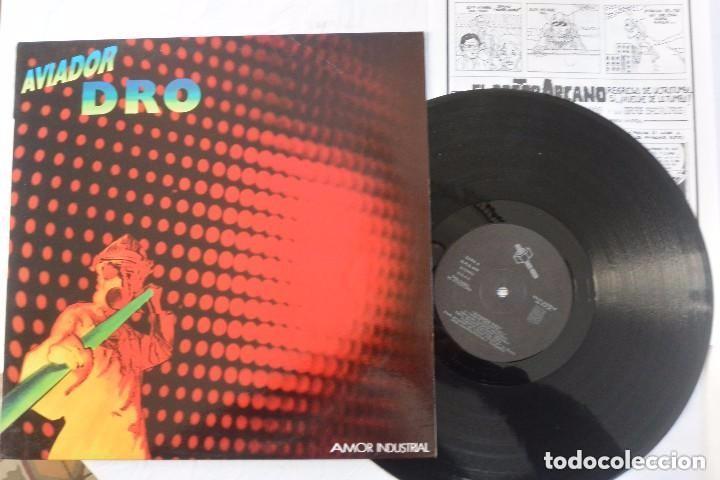 DISCO LP VINILO AVIADOR DRO AMOR INDUSTRIAL (Música - Discos - LP Vinilo - Grupos Españoles de los 90 a la actualidad)