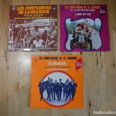 Discos de vinilo: LOTE VINILO EP LES COMPAGNONS DE LA CHANSON ETOILE FILANTE SI L'AVAIS DES MILLIONS LA LICORNE FILM. Lote 97209963