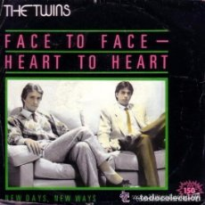 Discos de vinilo: THE TWINS - FACE TO FACE - HEART TO HEART - SINGLE PROMO SPAIN 1982. Lote 139531640
