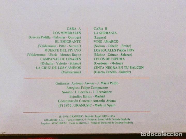 Discos de vinilo: Padilla, Valderrama, Montes Rayos, Ochaita, Lagaza, Solano, Cabello, Freire, Molina, Antonio Arenas - Foto 3 - 97226947