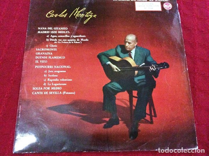 VINILO CARLOS MONTOYA. 1961 (Música - Discos de Vinilo - Maxi Singles - Flamenco, Canción española y Cuplé)