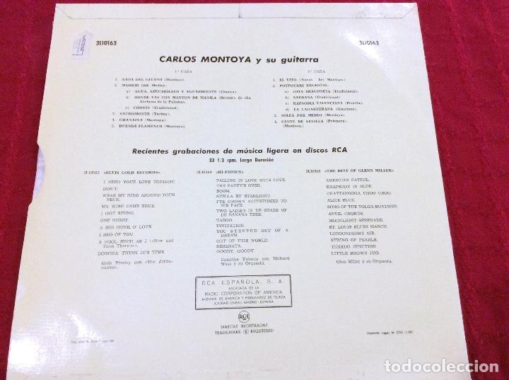 Discos de vinilo: Vinilo Carlos Montoya. 1961 - Foto 3 - 97243223