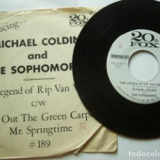 Discos de vinilo: MICHAEL COLDIN AND THE SOPHOMORES. THE LEGEND OF RIP VINICLE + 3. 20 TH FOX. PROMOTION COPY. Lote 97283087