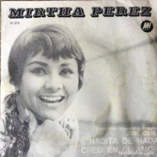 Discos de vinilo: MIRTHA PEREZ - NADITA DE NADA . SINGLE . ARGENTINA. Lote 97306951
