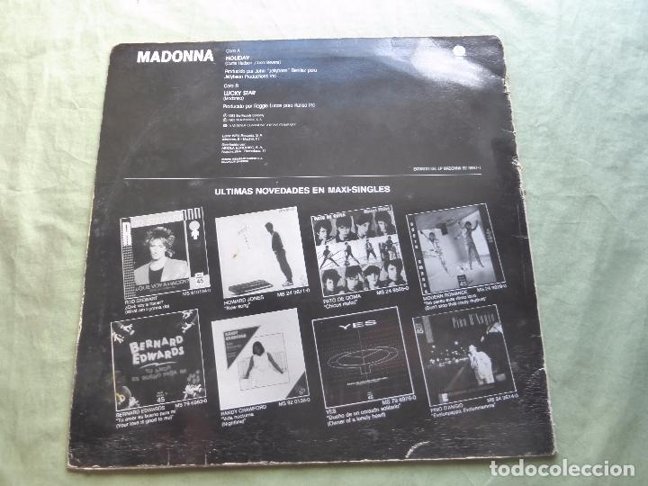 Discos de vinilo: MADONNA - HOLIDAY - SIRE, 1983. ESPAÑA - MAXI SINGLE VINILO - Foto 2 - 97316619