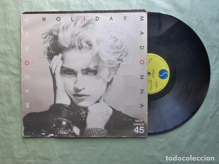 Discos de vinilo: MADONNA - HOLIDAY - SIRE, 1983. ESPAÑA - MAXI SINGLE VINILO - Foto 3 - 97316619
