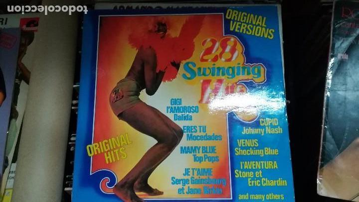 28 SWINGING HITS.DOBLE.1975.ORIGINAL. (Música - Discos - LP Vinilo - Pop - Rock - New Wave Internacional de los 80)