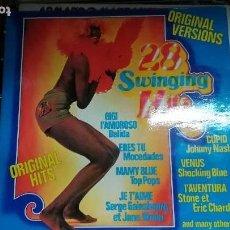 Discos de vinilo: 28 SWINGING HITS.DOBLE.1975.ORIGINAL.. Lote 97317247