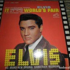 Discos de vinilo: ELVIS PRESLEY - IT HAPPENED AT THE WORLD´S FAIR LP - ORIGINAL USA - RCA 1963 - LIVING STEREO -. Lote 97328707