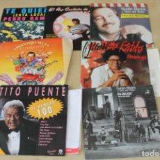 Discos de vinilo: LOTE DE SG SALSA BLADES, COLON, MILANES, SILVIO RODRÍGUEZ, TITO PUENTE. Lote 97377751
