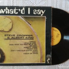 Discos de vinilo: STEVE CROPPER & ALBERT KING, WHAT'D I SAY (STAX MOVIEPLAY 1969) LP ESPAÑA. Lote 97385583