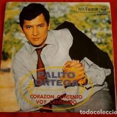 Discos de vinilo: PALITO ORTEGA (SINGLE 1968) CORAZON CONTENTO - VOY CANTANDO. Lote 97405455