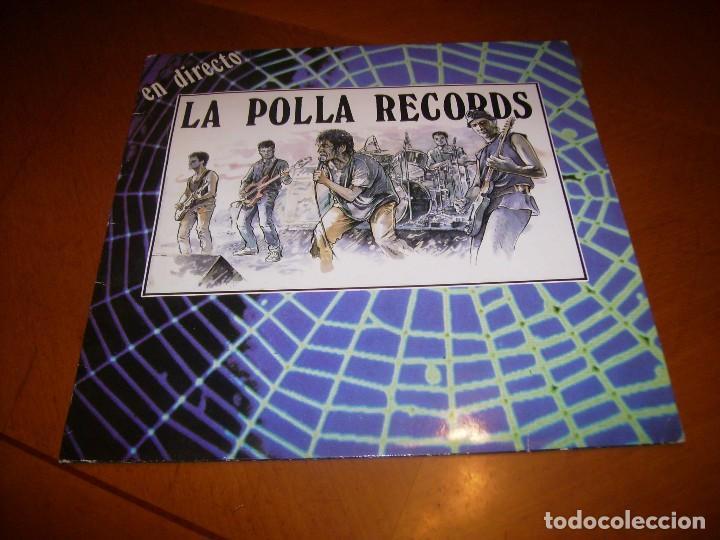 LP : LA POLLA RECORDS : EN DIRECTO : SPAIN 1988 EX (Música - Discos - LP Vinilo - Punk - Hard Core)