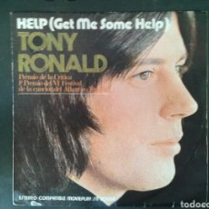 Discos de vinilo: TONY RONALD. HELP (GET ME SOME HELP) / ONCE UPON A TIME. SINGLE. MOVIEPLAY. 1971.. Lote 97422740