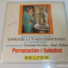 Discos de vinilo: ENSEÑAR A UN SINVERGUENZA - BANDA SONORA FILM CARMEN SEVILLA - DISCO VINILO SINGLE - JOSE SOLA. Lote 97436503